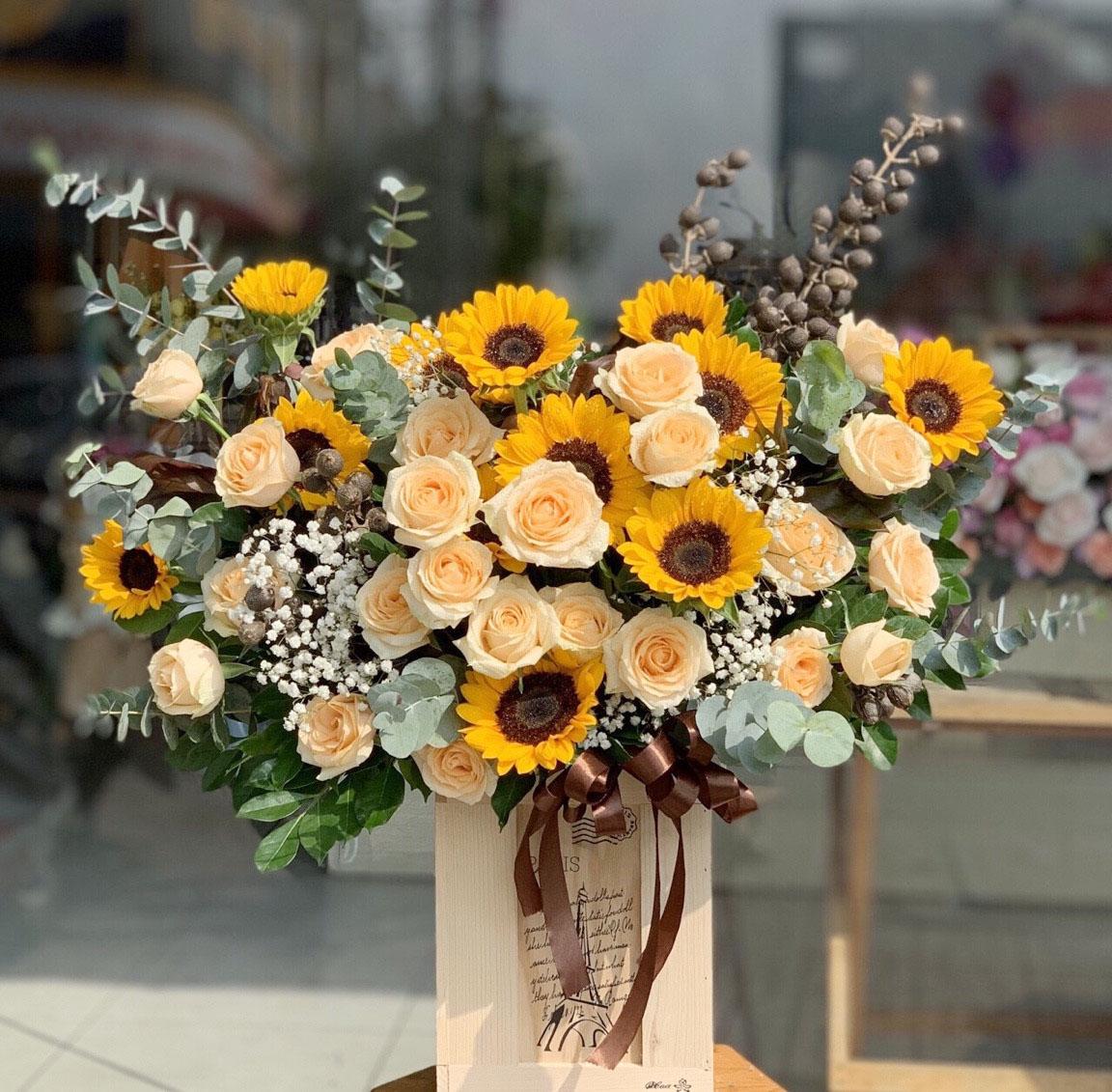 Lẵng hoa đẹp tặng thầy ngày 20-11