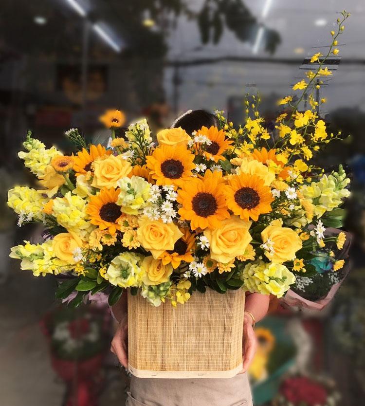 Hoa hướng dương đẹp chúc mừng thăng chức