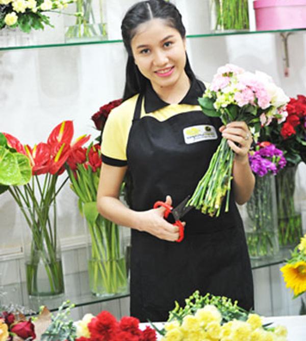 Dạy cắm hoa mở shop
