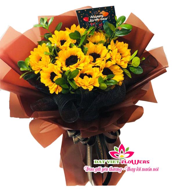 Bó hoa hướng dương chúc mừng ngày 20-10