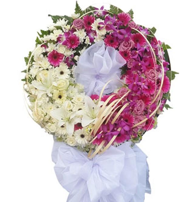 Hoa viếng đám tang người lớn tuổi kết hợp