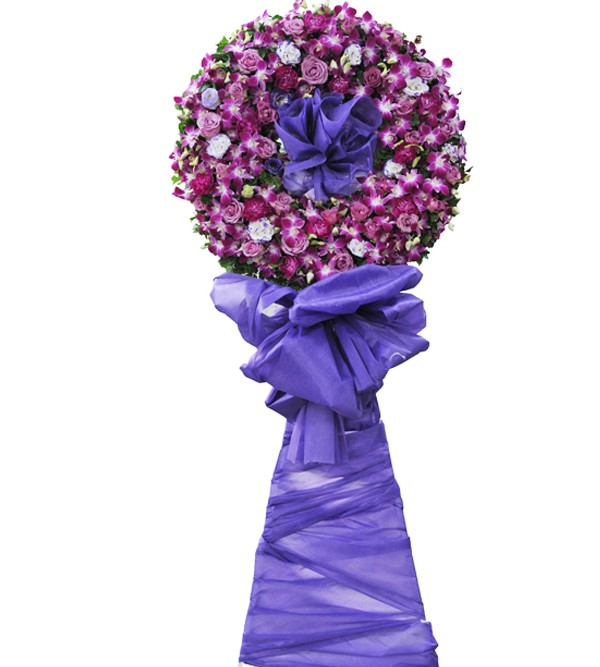 Vòng hoa tang tone tím