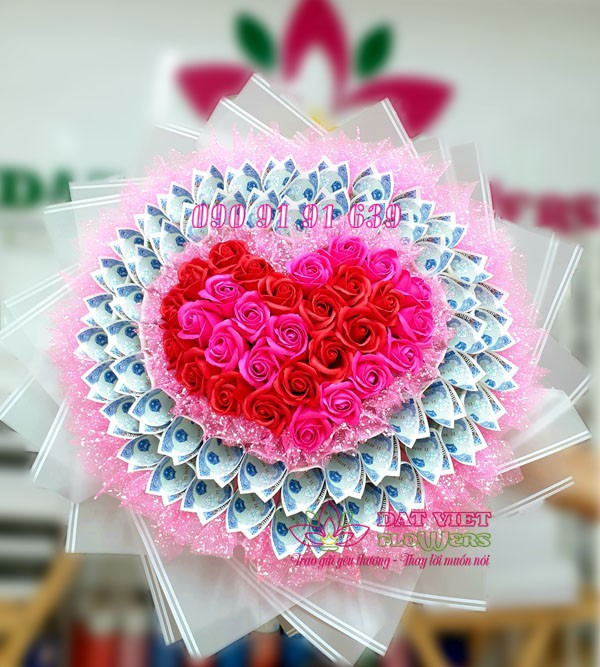 hoa tiền 5k read heart