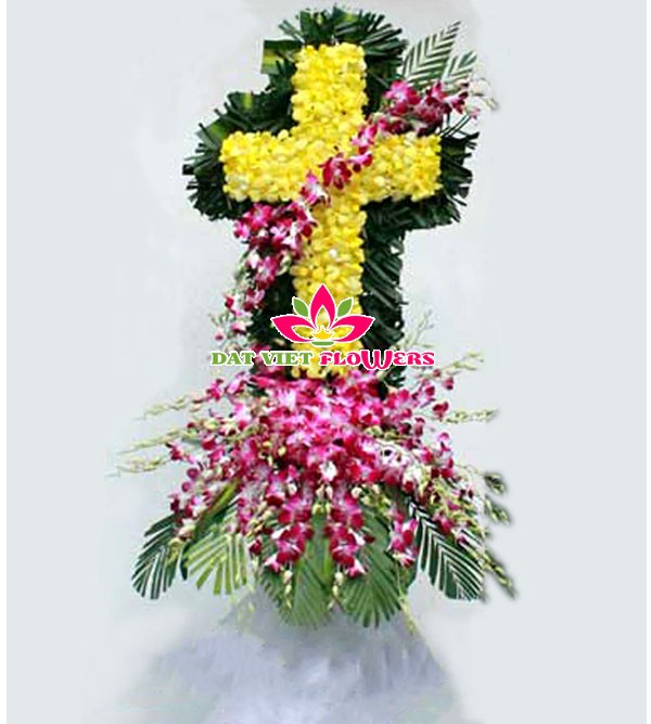 Hoa đám tang hình thánh giá