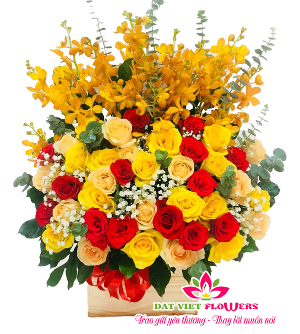 Lẵng hoa mừng tặng khai trương sang trọng